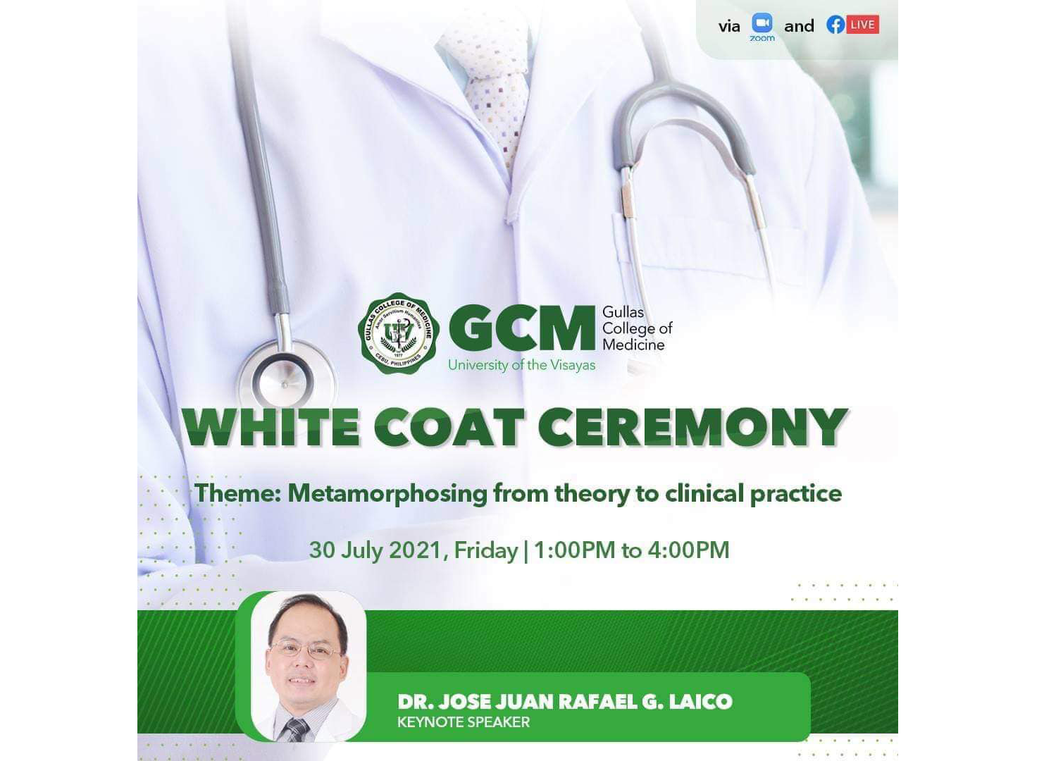 GCM holds its first virtual White Coat Ceremony